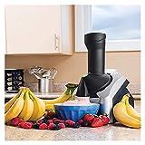 ZYuan Fruit Soft Server Máquina para Hacer Helados de Frutas Suaves, máquina para Hacer postres congelados, Saludable, sin lácteos, Helado Vegano (Color : Black)