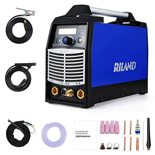 Riland TIG Welder Machine ACDC Pulse - Portable Stick Welders 180A TIG ARC 2 in 1 Welding Aluminum with LED Display Voltage 230V±15%