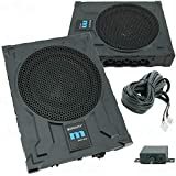 Gravity GRWF10 10-Inch 550 Watts Car Audio Under Seat Subwoofer Powerful Loud Speaker Pro Audio Active Aluminum Super Slim with High Power Long-Throw 10'' Truck Bass Sub