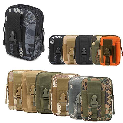 ZhaoCo Marsupio Tattica edc Pouch Camo Multiuso Sacchetto Militare di Nylon Tattico da Cintura Borsello Porta Cellulare Hiking Campeggio - Serpente