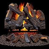Duluth Forge FNVL18-1 Vented Natural Gas Fireplace Log Set-45,000 BTU,...