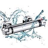 Ytrew mezclador termostático ducha barra cromo montado en la pared mezclador válvula anti escald grifo temperatura constante mezclador agua caliente fría baño accesorio temperatura constante