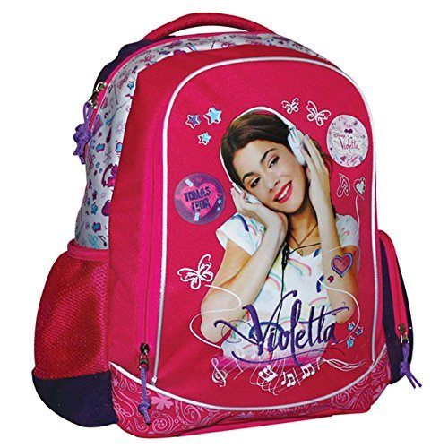 Zaino scuola ovale 4 tasche Violetta Disney