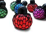 Mesh Squishy Balls 12 Stress Relief Tension Reliever Tear-Resistant Non-Toxic Balls Party Favors Stocking Stuffer