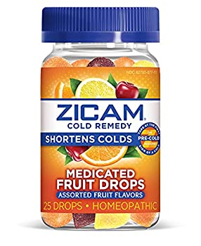 Zicam Cold Remedy Medicated Fruit Drops Homeopathic Medicine for Shortening Colds Assorted Fruit Assorted Fruit 25 Count