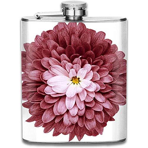 Kundengebundene Bordo Blumen-Chrysanthemen-Edelstahl-Wein-Flasche, personalisiertes Flaschen-Geschenk