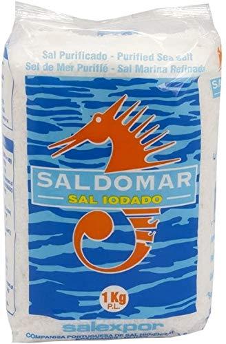 Grobes Meersalz, Saldomar, Jodiert, 1kg, aus Portugal