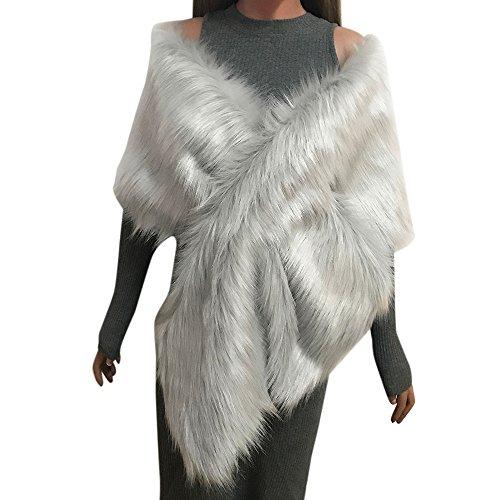 FossenMA Bufandas de Mujer Originales de Piel Sintética - Chales Mujer Mantón para Vestido de Noche Pashminas Fulares para Fiesta Estampado Playa