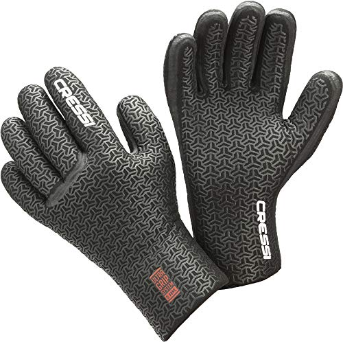 Cressi Gotland Liquid Seal Gloves 3mm Fusta de Acoplamiento rápido para Traje seco Desert, Unisex-Adult, Gris Oscuro, XX-Large