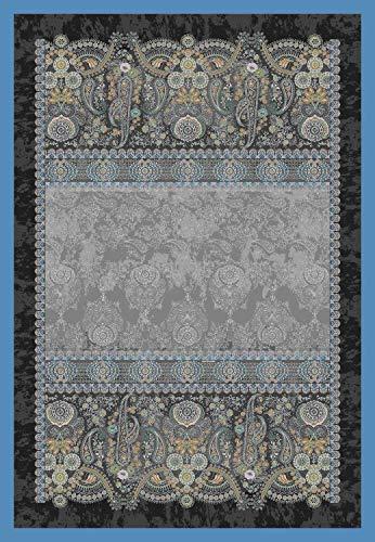 Bassetti Gran Paradiso V3 Plaid, Baumwolle, Blau, 135x190 cm