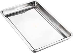 Lianzhi Hotel And Catering Business Stainless Steel Baking Pan Half Thickness 0f 0.5MM (10.63*14.70*0.79)