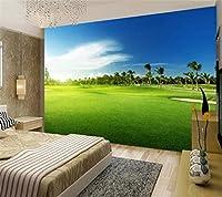 Hhkkck カスタム壁紙3D壁画ゴルフ草風景壁紙リビングルームソファ背景-280X200Cm
