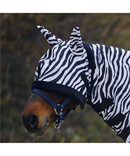 WALDHAUSEN Fliegenmaske Zebra, schwarz/weiß, Pony