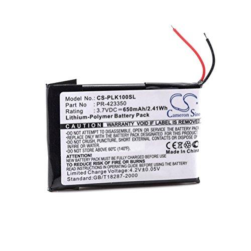 vhbw batería Compatible con Plantronics K100 Dispositivo de Manos Libres teléfono de Conferencia (650mAh, 3,7V, polímero de Litio)