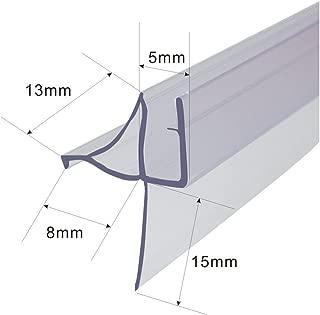 Frameless Shower Door Bottom Seal for 3/16-Inch Glass,36-Inch Long, Vinyl, Clear
