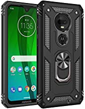 Yipmai Compatible for Moto G7 Case,Moto G7 Plus Case with Kickstand Ring, Reinforced TPU Bumper, 360 Degree Protection (Black)