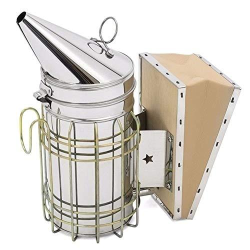 Conveniente 1 Herramienta de apicultura Pc acero inoxidable de la colmena de fumador de hierro galvanizado con calor Escudo de protección de equipos de apicultura decorativo ( Color : As show