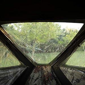 Barronett Radar Ground Hunting Blind 2 Person Pop Up Portable Backwoods Camo