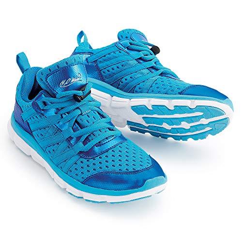 H2O Wear Aqua Vibe Women's Water Aerobics Shoe/Water Sneaker Size Ladies Size 12 Marine Blue