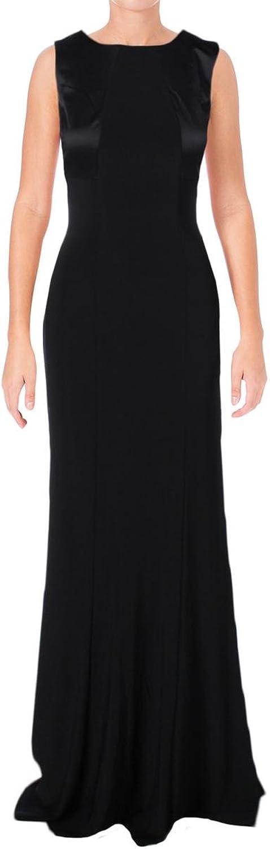 Ralph Lauren Womens Open Back Jersey Dress Black 2