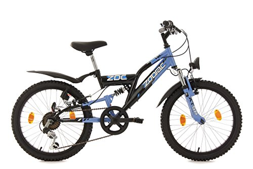 """KS Cycling Kinderfahrrad Mountainbike Fully 20"""" Zodiac schwarz-blau RH 31 cm"""