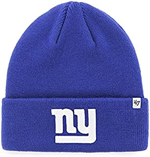 NFL New York Giants '47 Raised Cuff Knit Hat, Royal, One Size