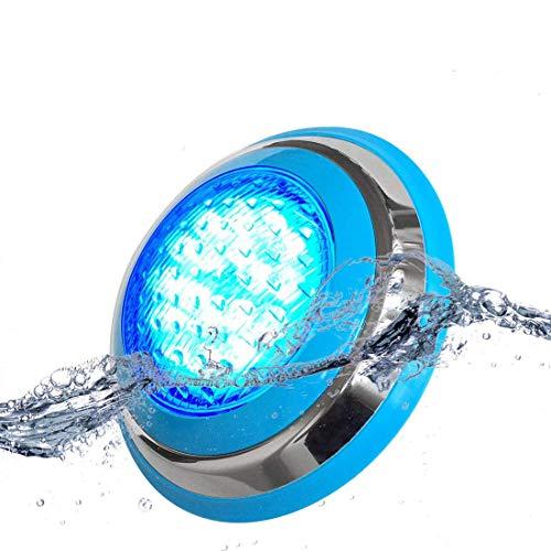 RGB-Farbwechsel-LED-Poolbeleuchtung, 36 W 12 V/AC IP68 Wasserdicht, Unterwasser-Wandleuchte, Farbspeicher, mit Fernbedienung