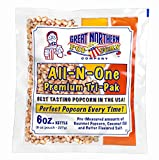 6 oz Popcorn Packs – Pre-Measured, Movie Theater Style, All-in-One Kernel, Salt, Oil Packets for Popcorn Machines by Great Northern Popcorn (24 Case)