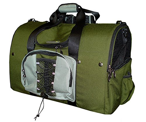 Celltei Backpack-o-Pet - Cordura(R) Green & Light Grey - Large Size