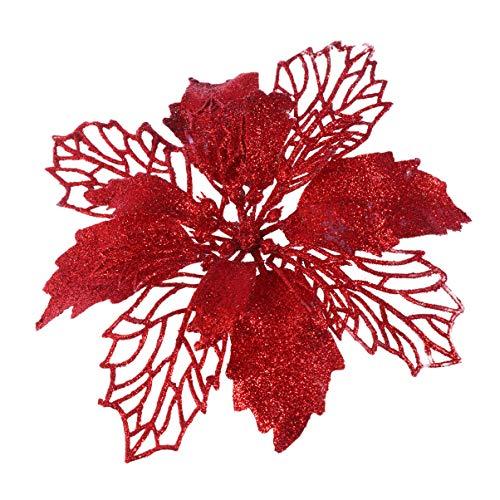 Flores De Navidad Para Decorar Rojas flores de navidad para decorar  Marca Artibetter