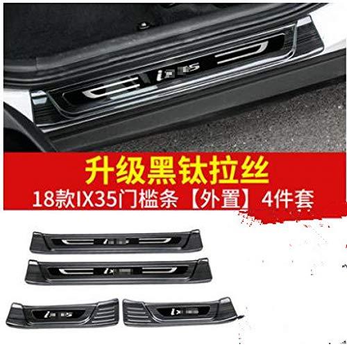 Auto vorm roestvrijstalen deur en raam kick pedaal beschermer drempel welkom pedaal, voor Hyundai ix35 2018