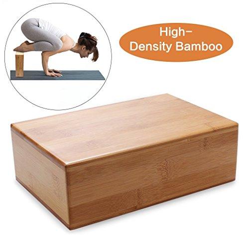 Yoga Blocks Bricks, Holz Bambus Yoga Block, unterstützt Bricks zu vertiefen Posen, verbessern Kraft und Hilfe Balance und Flexibilität, ungiftig, geruchlos, und wasserbeständig