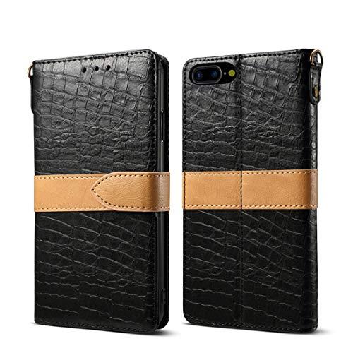 un known Reparación renovación por Teléfono Cuero Funda Protectora for el iPhone Plus 8 y 7 Plus Accesorios (Color : Black)