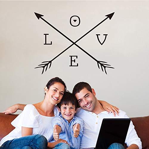 boomstam muurstickers, liefde pijl vinyl muurstickers pijl hart muurstickers woondecoratie behang voor woonkamer home40x40cm