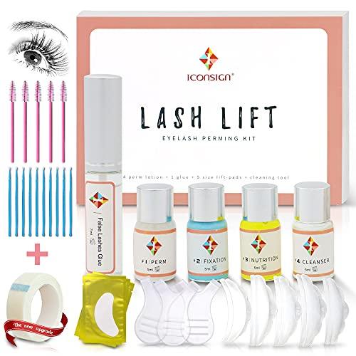 Pahajim Long Lasting Eyelash Lift Kit Kit de Permanente de Pestañas Kit de rizado y levantamiento de pestañas Pegamento de Rizos Semipermanente Natural con Herramientas Completas