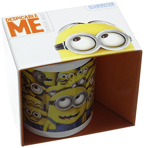 Pyramid International Many Minions Keramikbecher, Keramik, Mehrfarbig, 8.5 x 12 x 10.5 cm