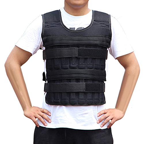 iFCOW Gewichtsweste, verstellbare Gewichtsweste aus Stoff, Sportgewicht, Jacke für Training, Fitnesstraining (15 kg, Gewichte nicht im Lieferumfang enthalten)