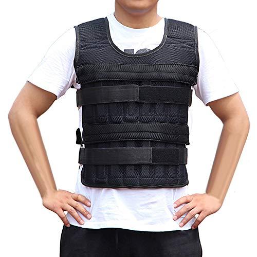 iFCOW Gewichtsweste, 15 kg, verstellbare Gewichtsweste aus Stoff, Sportgewicht, Jacke für Training, Fitnesstraining (Gewichte nicht im Lieferumfang enthalten)