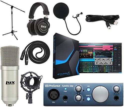 PreSonus AudioBox iOne 2x2 Audio Recording Interface for USB iPad and iOS Devices Studio Bundle product image