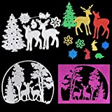 OOTSR 2 Set Plantilla de Corte de Metal, Troqueles Scrapbooking, Venado de Navidad y Patrón de Árbol de Navidad/Estampado/Fabricación de Tarjetas/Foto Decorativa