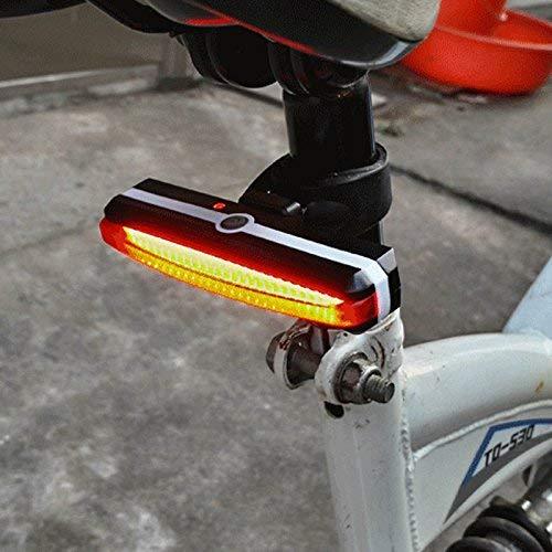 Espeedy LED Luz Trasera de Bicicleta,Super brillante bicicleta luz USB recargable bicicletas luces de la cola trasera LED ciclismo accesorios linterna de seguridad