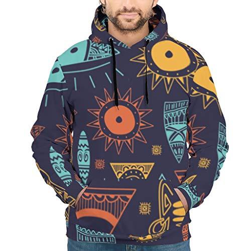 WJunglezhuang Mens Unisex Sweatshirts Egypt India Mayan Fit Pullover Für Männer White l