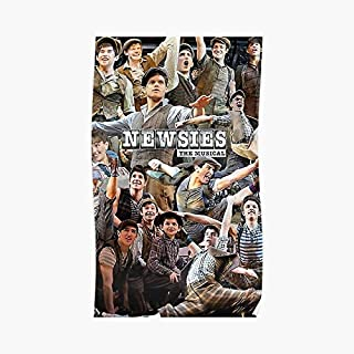 Newsies Broadway Musical Collage Poster - For Office Decor, College Dorm, Teachers, Classroom, Gym Workout And School Halloween, Holiday, Christmas Party ! Great Inspirational Wall Art Poster.