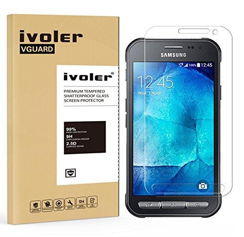 Samsung Galaxy Xcover 3 Pellicola Protettiva, iVoler® Pellicola Protettiva in Vetro Temperato per Samsung Galaxy Xcover 3 SM-G388F - Vetro con Durezza 9H, Spessore di 0,2 mm,Bordi Arrotondati da 2,5D-Shockproof, Trasparenza ad alta definizione, Facile da installare- Garanzia a vita