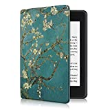 ProElite Slim Smart Flip case Cover for All New Amazon Kindle 10th Generation 2019 [Flowers] (Not Fit Paperwhite)