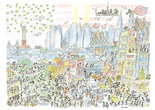 AKENA- New York Puzzle, Multicolore, FV2481