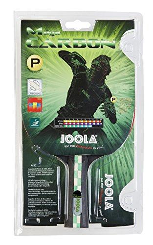 JOOLA Tischtennisschläger MEGA CARBON - ITTF zugelassener Tischtennis-Schläger für Fortgeschrittene Spieler - Carbowood Technologie