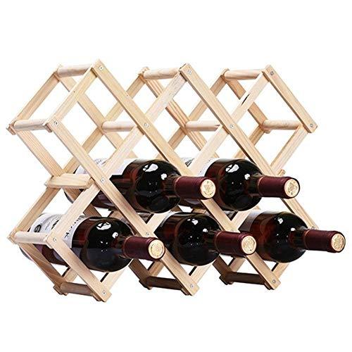Ducomi®–Botellero de madera plegable Vinoria, para vino, para enotecas, expositor elegante y fino, con carta de vinos