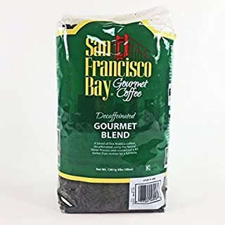 San Francisco Bay Coffee, Decaf Gourmet Blend- Whole Bean, 3-Pound (48 oz.), Swiss Water Process- Decaffeinated (3 Pounds)