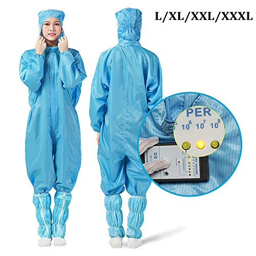 Unisex Reusable Protective Overalls Suit Splashproof Protective Isolation Clothing Suit (L)
